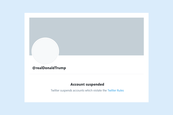"Twitter has permanently suspended Donald Trump ""due to the risk of further incitement of violence"""