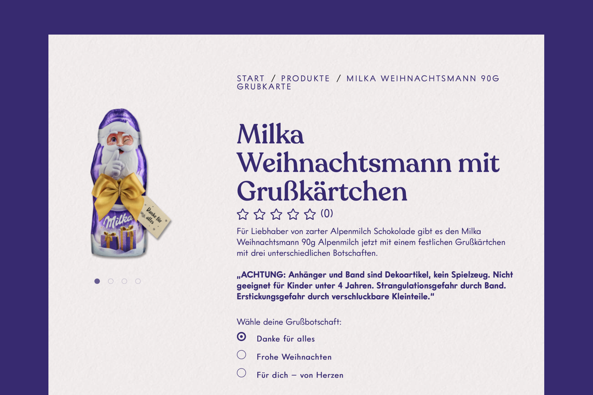 German chocolate producer Milka shrinks Santa Claus candy but increases price