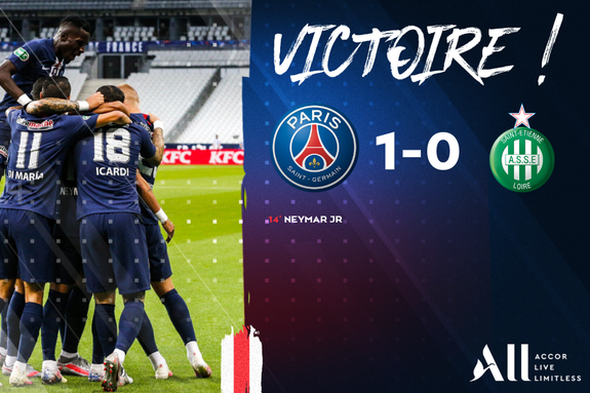 PSG beats Saint-Étienne and takes the French Cup