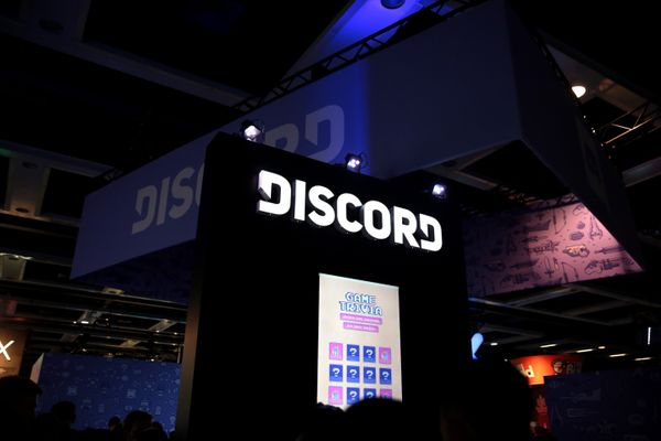Discord booth at the 2018 PAX West at the Washington State Convention Center in Seattle, Washington.