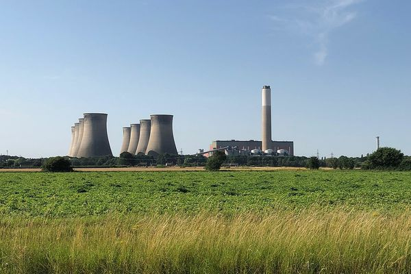 Cottam Power Station, viewed from the north in July 2019 - months prior to official closure