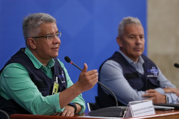 Press conference of the Brazilian Health Ministry