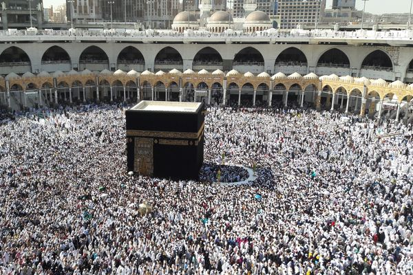 The Kaaba in Mecca's Grand Mosque