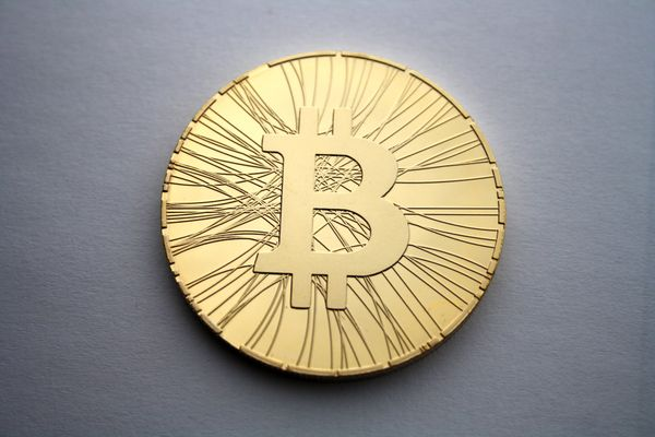 Coin with a Bitcoin logo