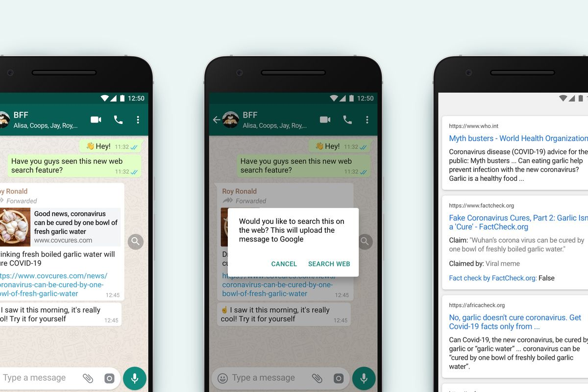 """WhatsApp adds new """"Search the web"""" feature"""