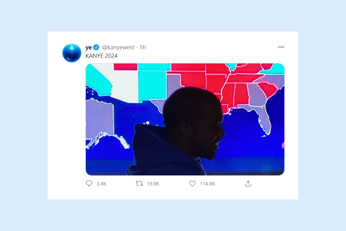 Kanye West admits defeat in US elections
