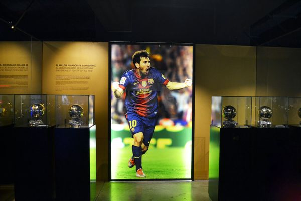 Lionel Messi display at FC Barcelona's museum
