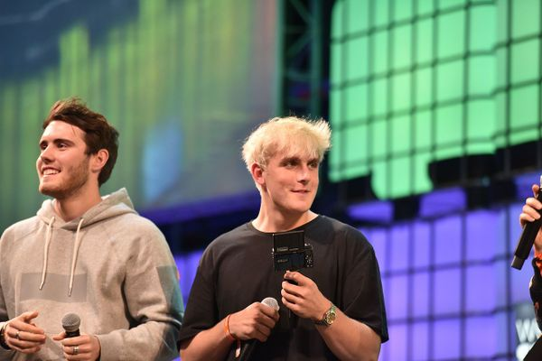 Jake Paul (r) at the Web Summit 2016