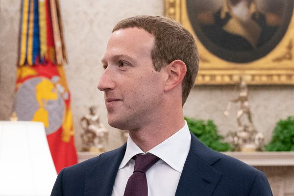 Facebook CEO Mark Zuckerberg at the White House in 2019