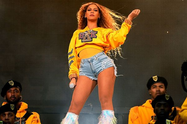 Beyoncé performing at Coachella