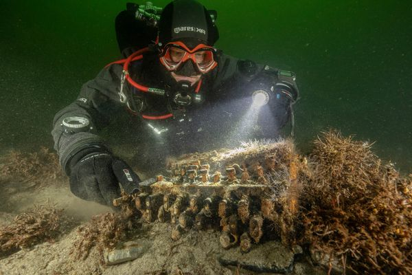 Enviromentalists discover WWII Enigma machine in the Baltic Sea