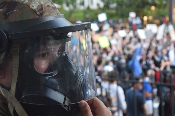 National Guard soldier during the protests in Atlanta