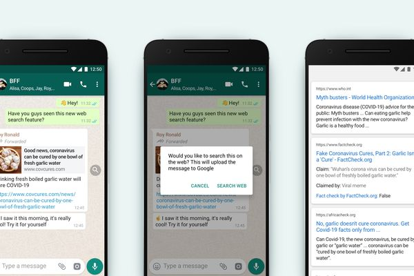 "WhatsApp adds new ""Search the web"" feature"
