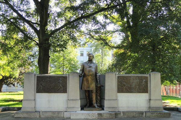 Memorial to Zebulon Baird Vance by Henry Jackson Ellicott. North Carolina State Capitol, Raleigh, North Carolina, USA.