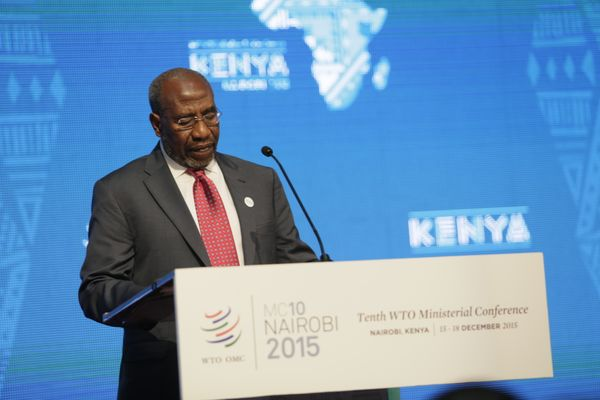 Ruhakana Rugunda during the 10th WTO Ministerial Conference