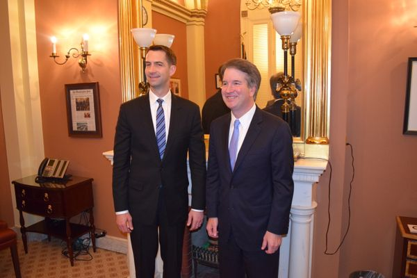 United States Senator Tom Cotton (l) with Judge Brett Kavanaugh (r)