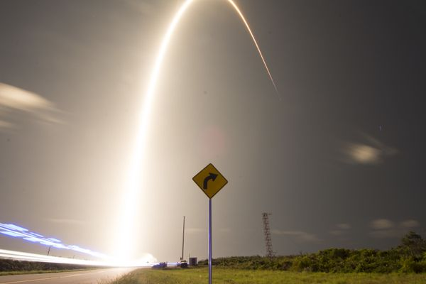 A SpaceX Falcon 9 rocket launches Starlink at Cape Canaveral Air Force Station