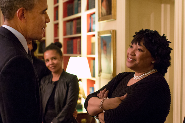 Zindzi Mandela meeting President Barack Obama, 2 November 2013