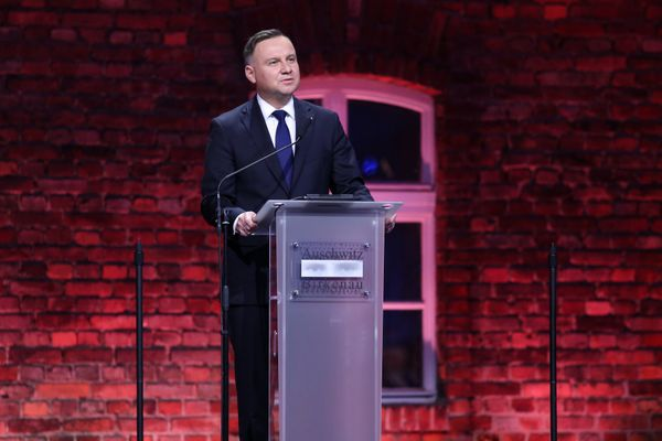 President of Poland Andrzej Duda at the 75th anniversary of the liberation of Auschwitz