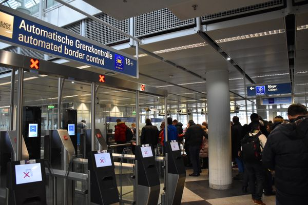 Munich International Airport passport control