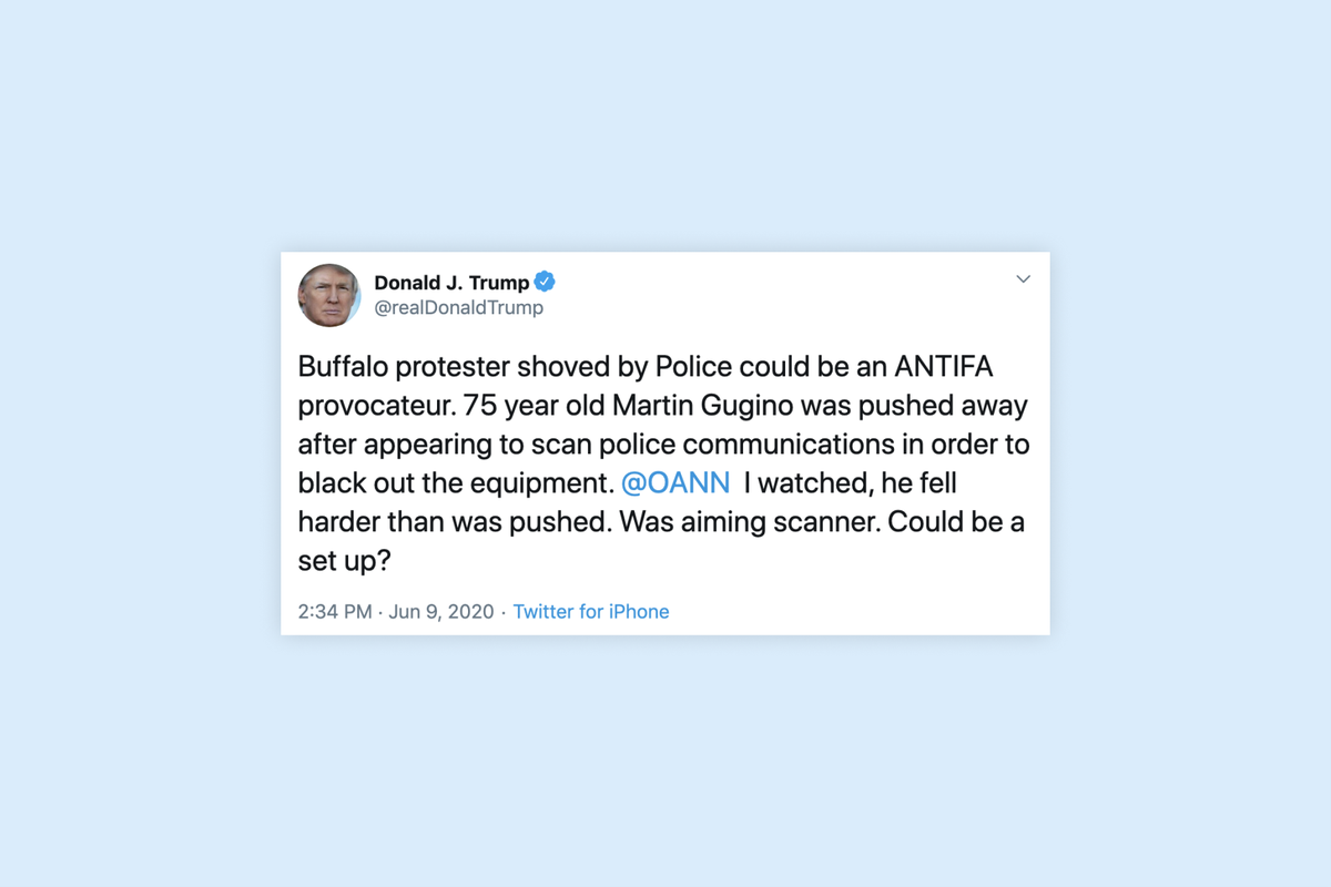 """Trump suggests shoved 75-year-old protestor was a """"set up"""""""
