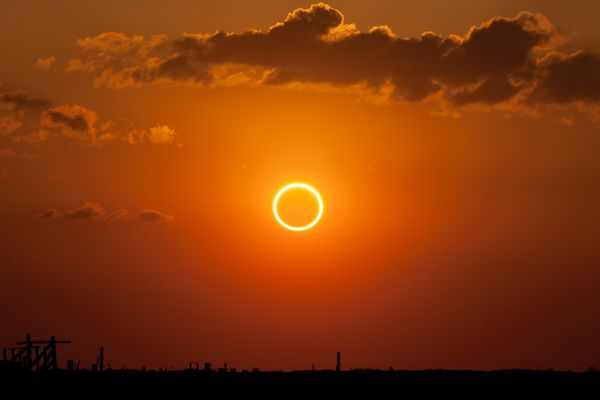 Annular eclipse in New Mexico, 2012