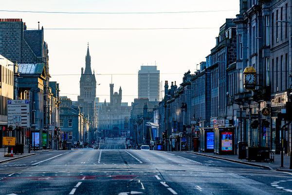 Empty streets in Aberdeen