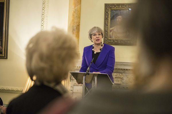 Prime Minister Theresa May at Downing Street in 2018