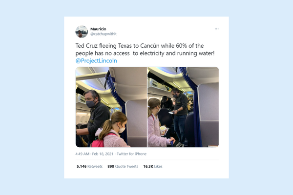 Ted Cruz flies to Mexico as millions of Texans freeze in the dark