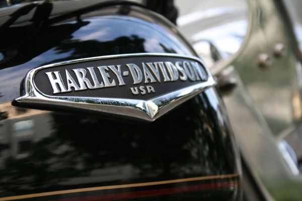Extract of the tank of a Harley-Davidson