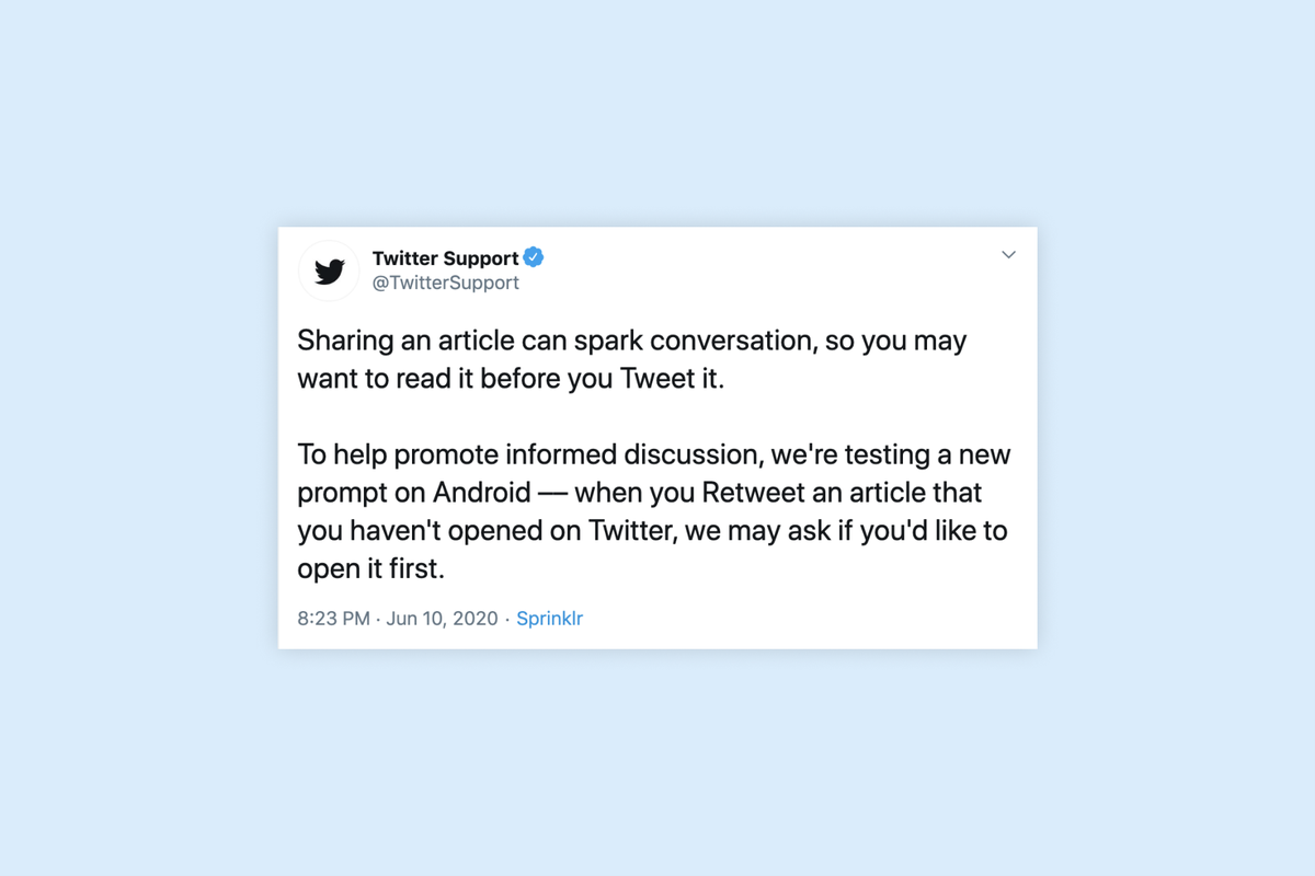 """""""Read it before you Tweet it"""" – Twitter tests new feature"""