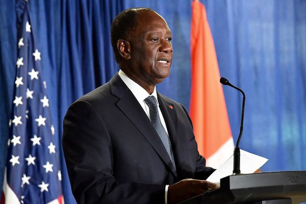 President of the Ivory Coast Alassane Ouattara, 2017