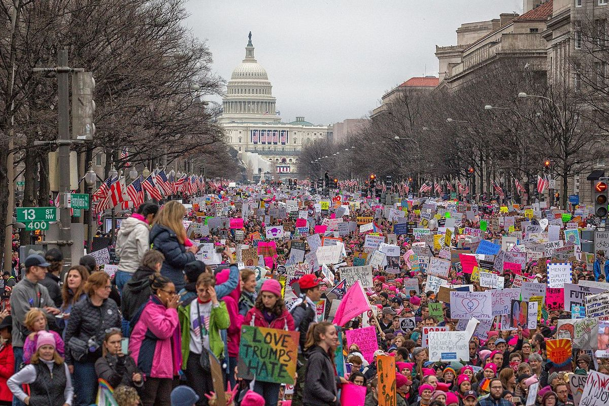 Women's March: Protestors march against Trump and Republicans in major US cities