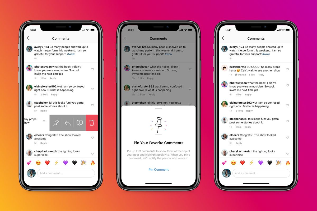 Instagram enables 'Pinned Comments' feature to all users