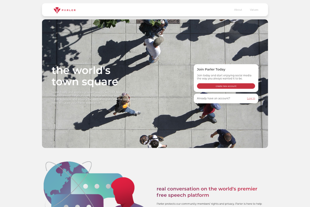 Social media platform Parler back online on 'independent technology' and with a new CEO