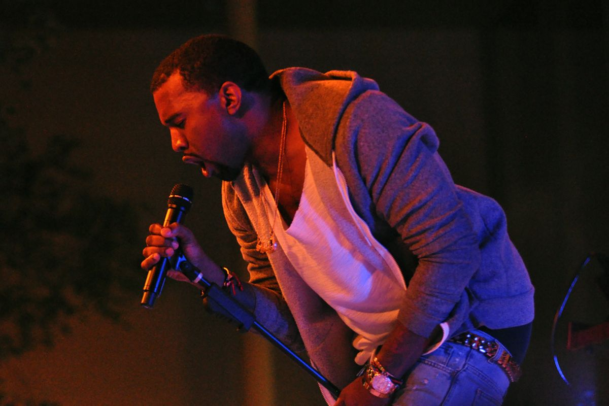 Rapper Kanye West announces that he is running for president of the United States