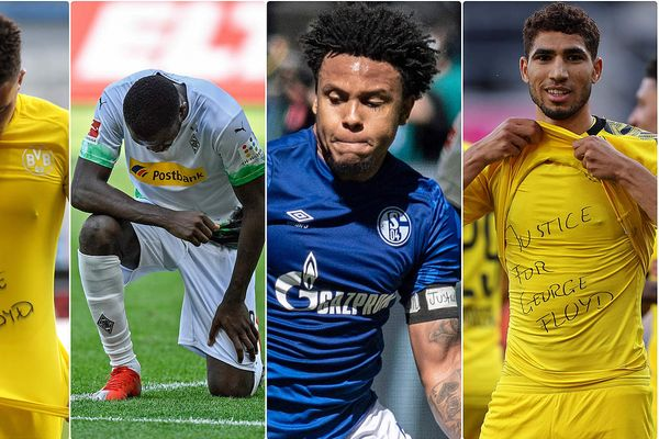 Bundesliga players protest against racism