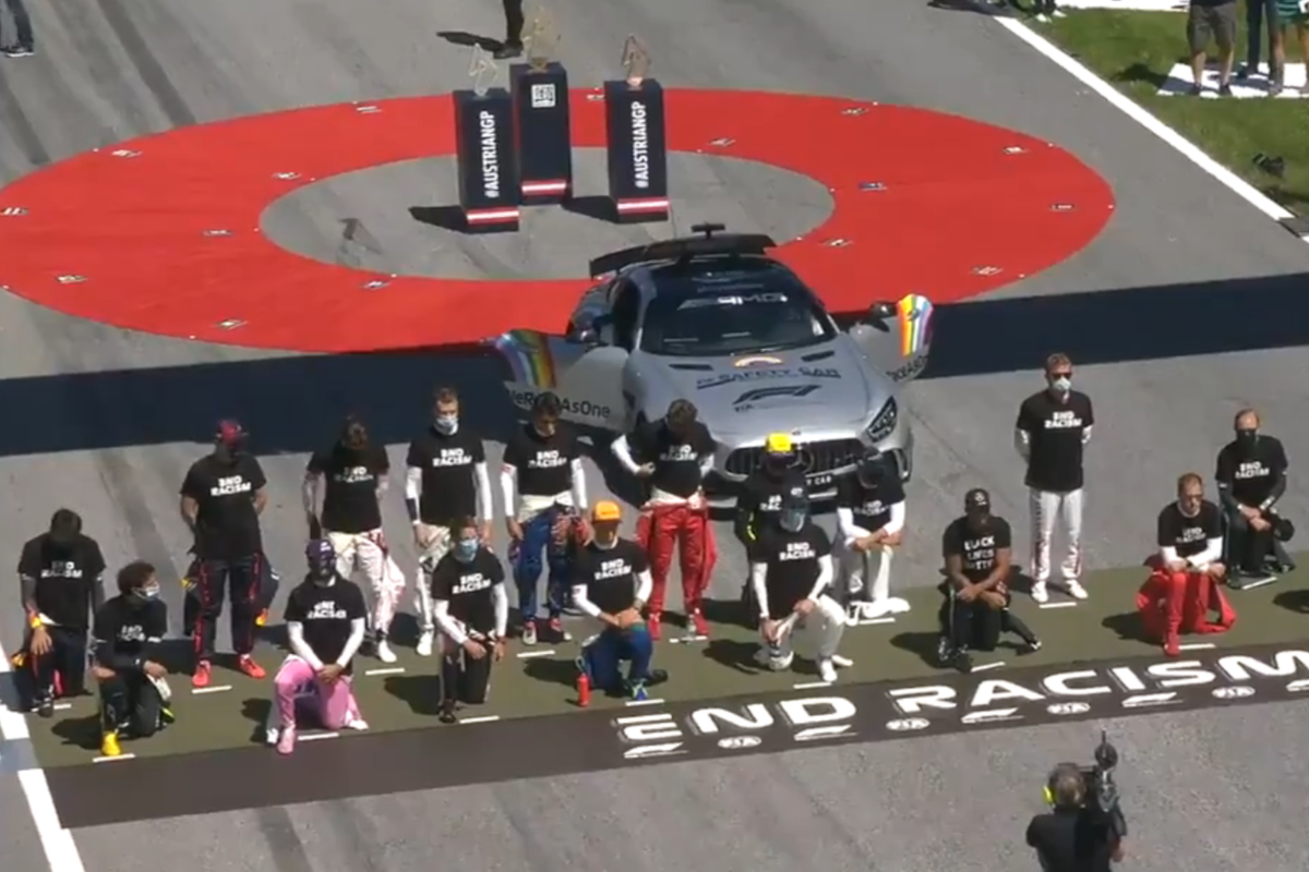 F1 drivers divided over support for Black Lives Matter movement as some drivers kneel and some do not