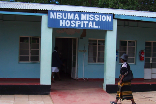 Main entrance Mbuma Mission Hospital