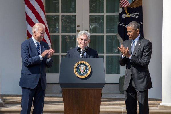 Garland with Biden and Obama in 2016