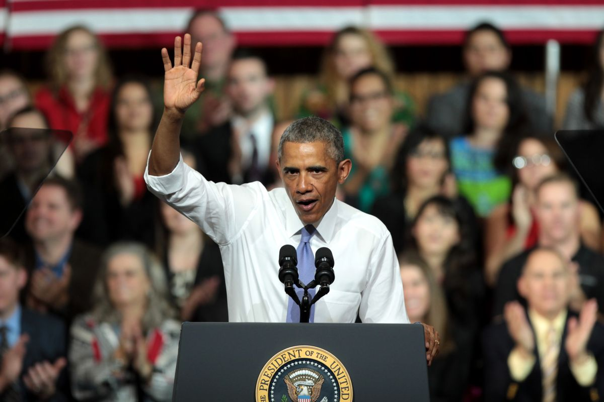 """Former US president Obama says that """"democracy itself is on the line"""" at the 2020 elections"""