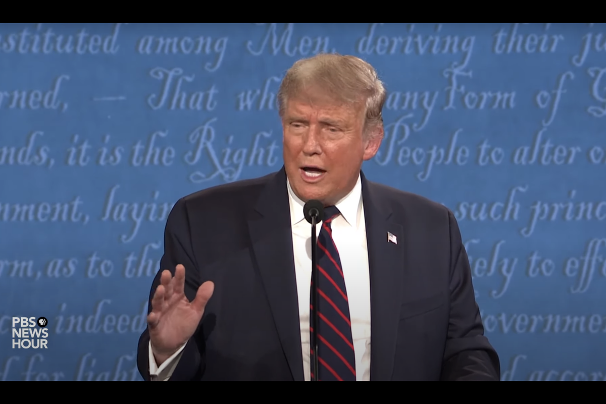 """Presidential Debate: Trump says """"I don't want to pax tax,"""" but claims he has paid millions in income taxes"""