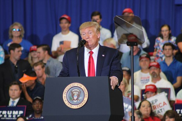 Donald Trump at the Keep America Great rally in Fayetteville, NC on 9/9/2019