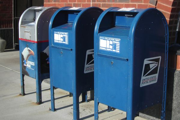 United States Post Office mail collection boxes