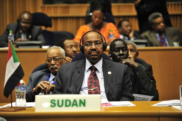 Omar al-Bashir at the  20th session of The New Partnership for Africa's Development in Addis Ababa, Ethiopia, Jan. 31, 2009.