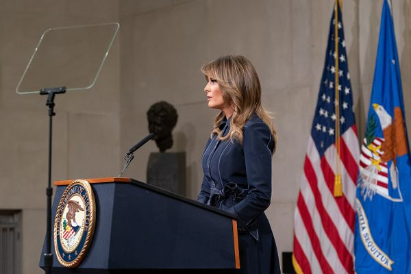 First Lady Melania Trump at the U.S. Department of Justice National Opioid Summit