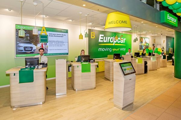 Europcar in the Hamburg Airport