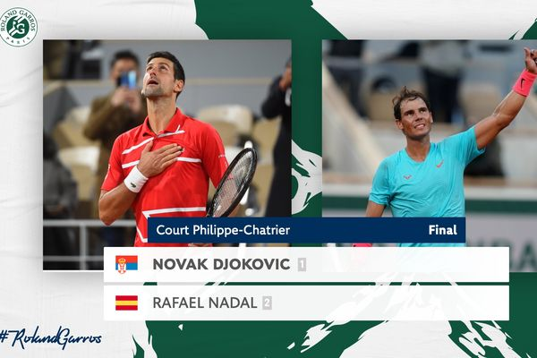 Rafael Nadal will play Novak Djokovic for the French Open 2020 title