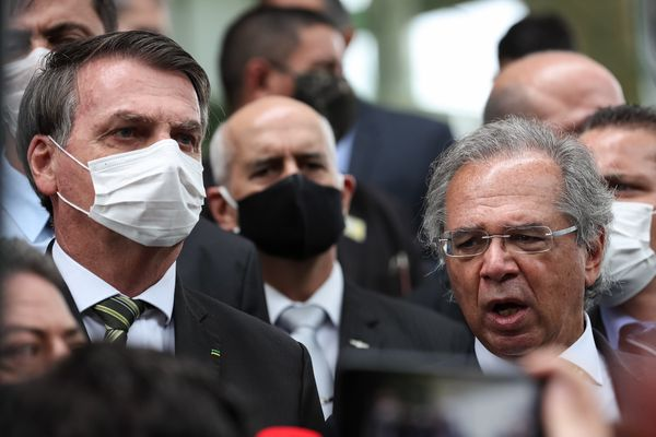 Brazilian President Jair Bolsonaro and Economy Minister Paulo Guedes