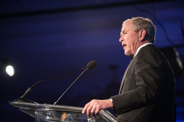 George W. Bush at the Atlantic Council's Distinguished Leadership Awards dinner in Washington, D.C., May 10, 2018